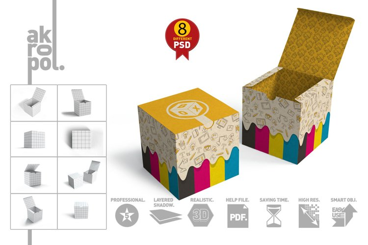Package Box mock up example image 1