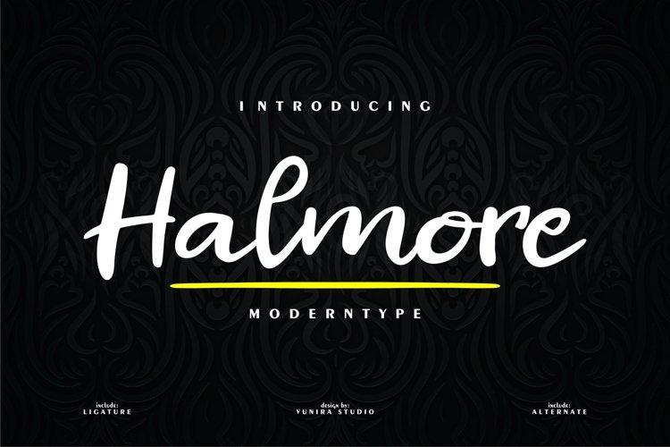 Halmore | Moderntype example image 1