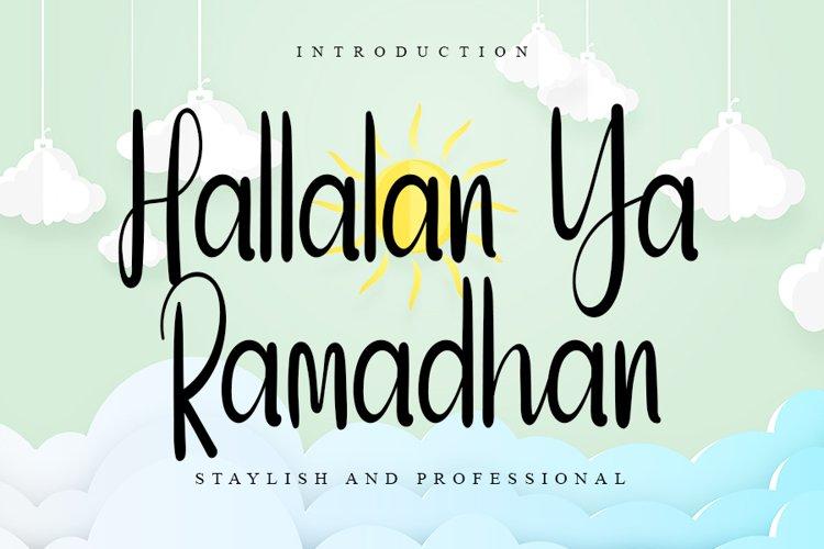 Halalan Ya Ramadhan | A Handwritten Font example image 1