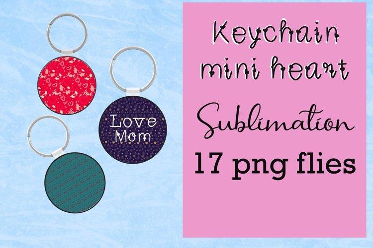 Keychain mini heart sublimation example image 1