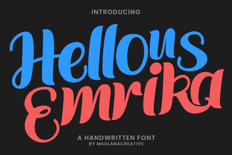 Hellous Emrika Handwritten Font example image 1