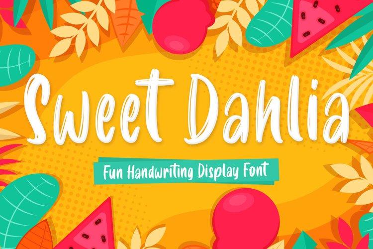 Sweet Dahlia Brush Font example image 1
