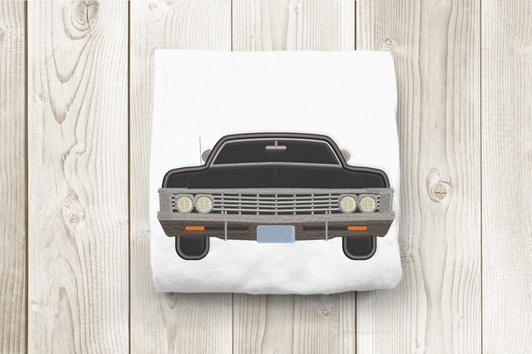 Classic Muscle Car Applique Machine Embroidery