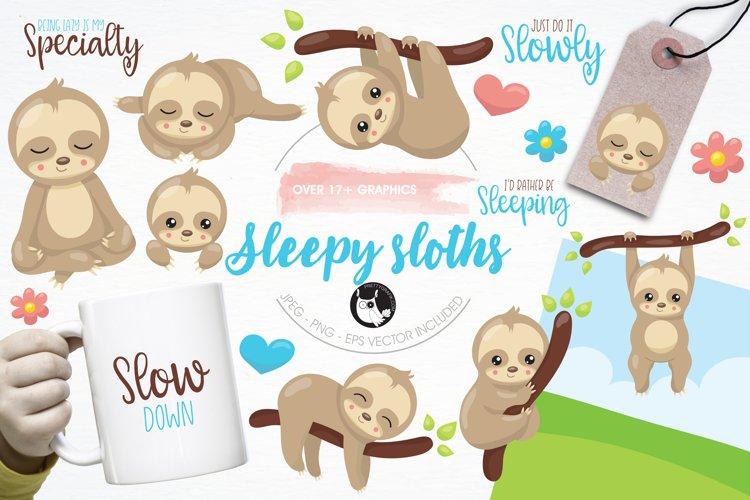 Sleepy sloth graphics and illustrations