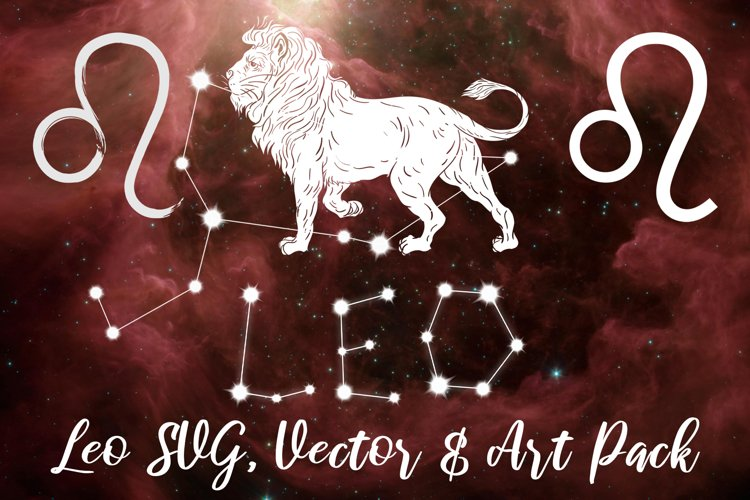 Leo Zodiac, Constellation, Horoscope, Celestial Pack example image 1