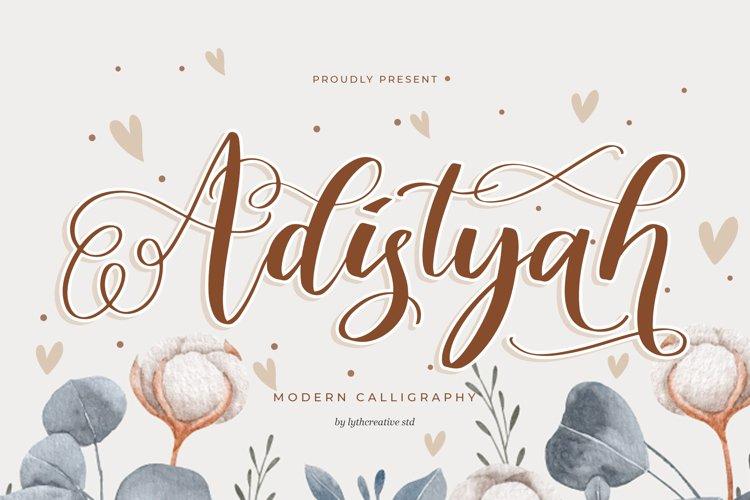 Adistyah Modern Calligraphy