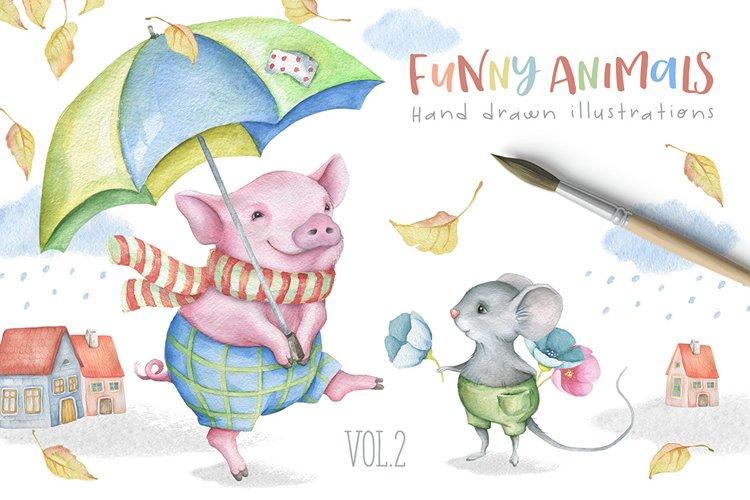 Funny Animals Kit Vol.2 example image 1
