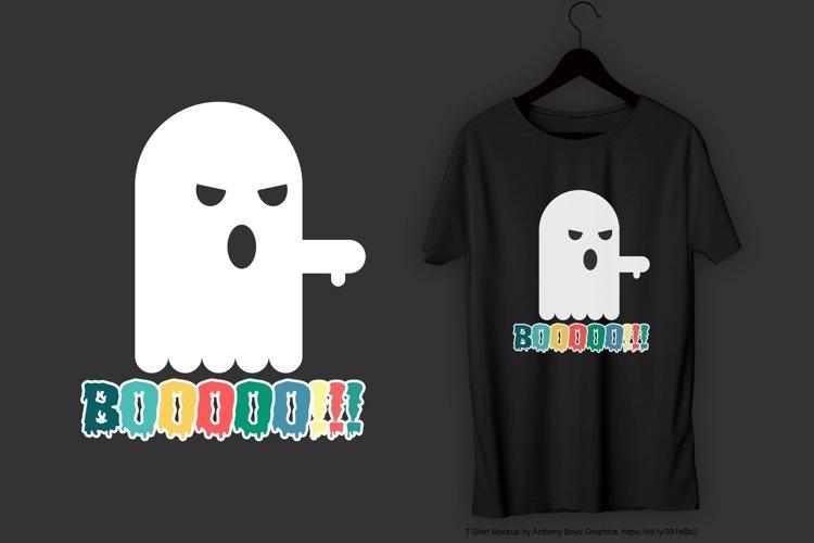 Booooo!!! T-Shirt Design example image 1