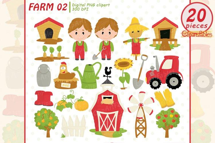 FARM clipart, Barnyard clip art, Old Macdonald had a farm
