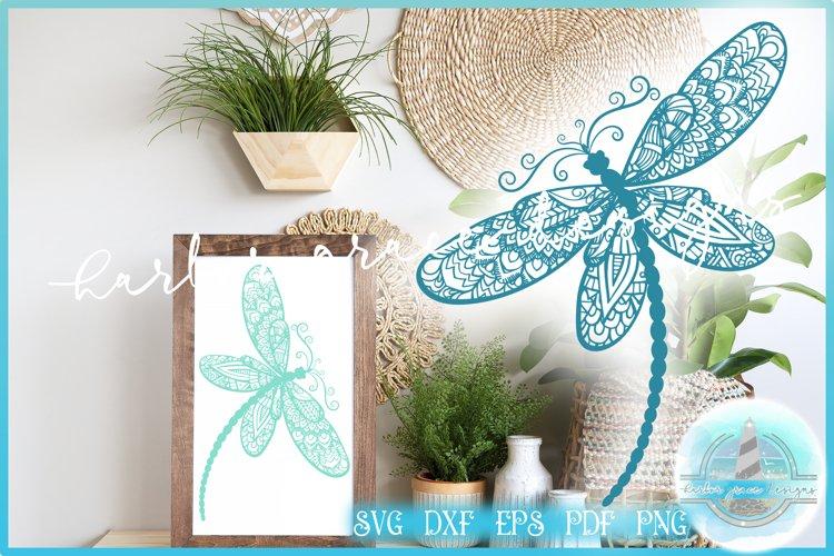 SVG Dragonfly Mandala Zentangle | Mandala SVG Dragonfly SVG