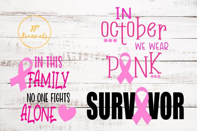 Breast Cancer Awareness SVG Bundle
