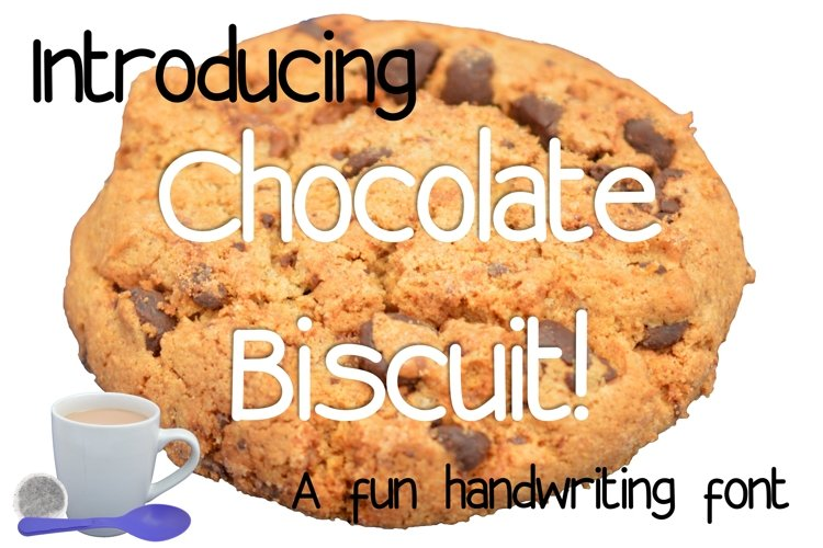 Chocolate Biscuit Font.