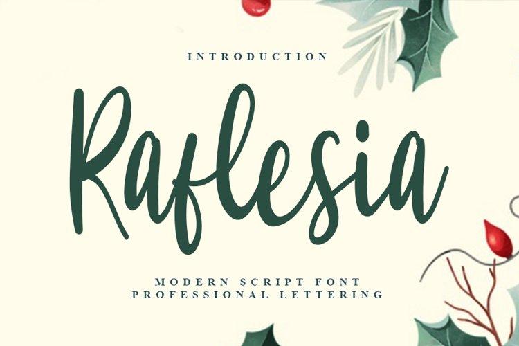 Raflesia - Beautiful Script Font example image 1