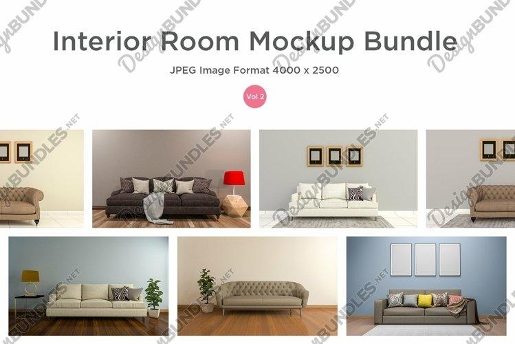 10 Images 3D Interior Room Mockup Bundle Vol 2
