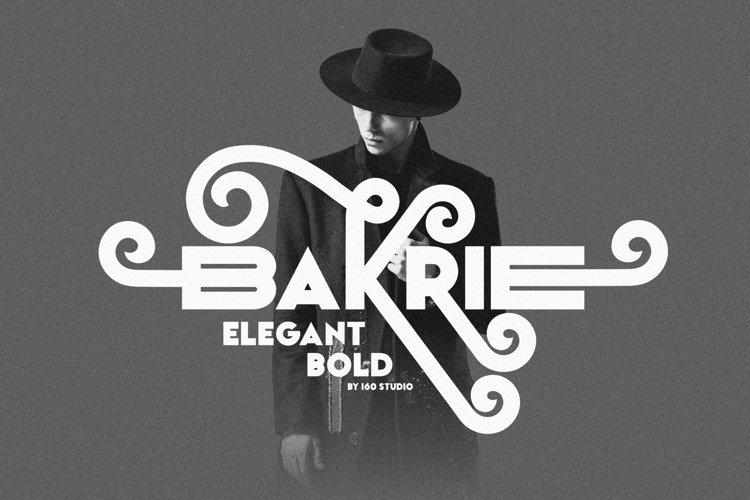 Bakrie   Stylish Bold Typeface example image 1