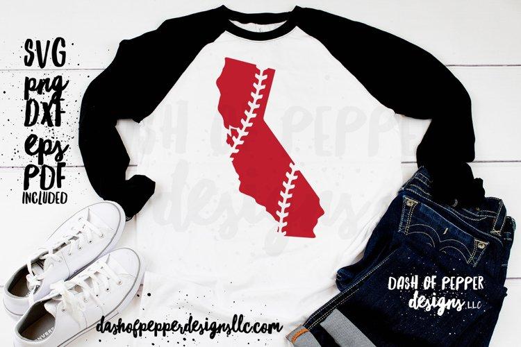 California Laces SVG - A Baseball SVG example image 1