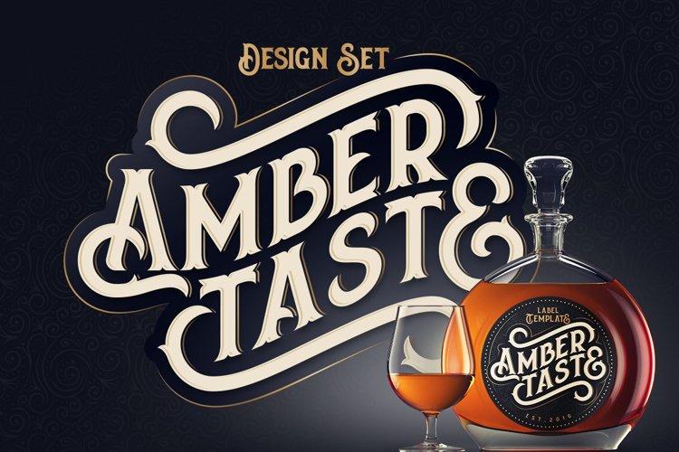 Amber Taste Font, Label, Mockup! example image 1