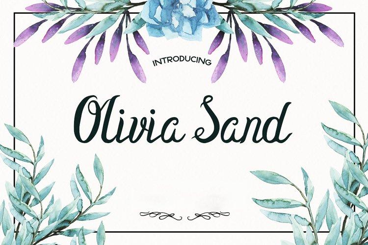 Olivia Sand Typeface