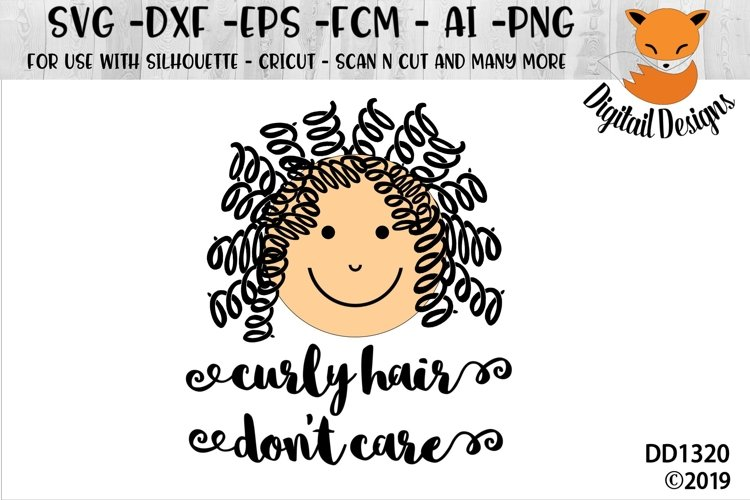 Curly Hair Don't Care Baby SVG example image 1