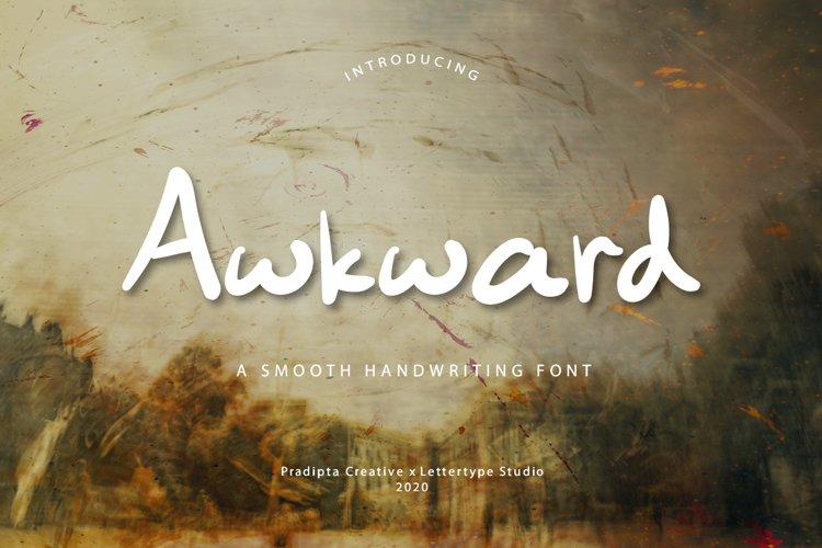 Awkward Handwriting Typeface example image 1