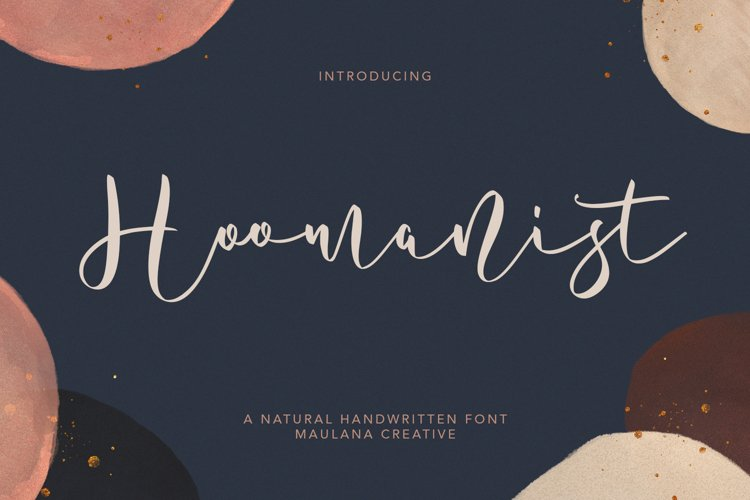 Hoomanist Natural Handwritten Font example image 1