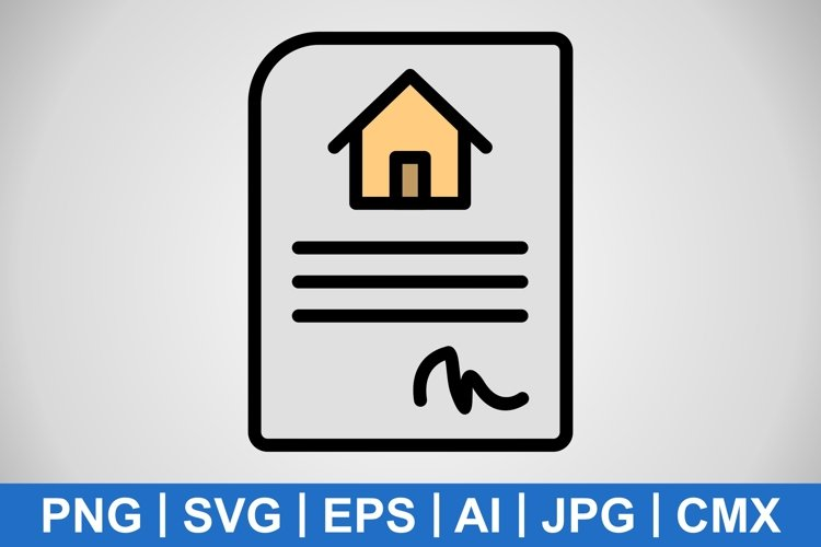 Vector House Contract Icon example image 1