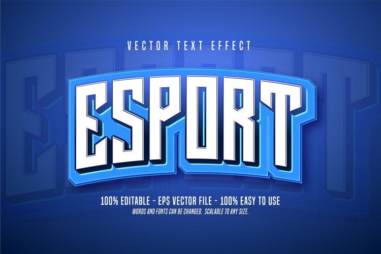 ESport editable text style example image 1