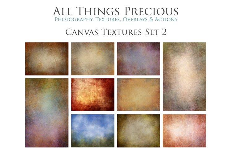 10 Fine Art Textures CANVAS - SET 2 example image 1