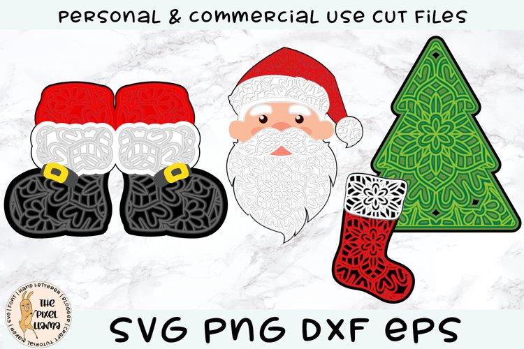 3D Layered Christmas Mini Bundle SVG