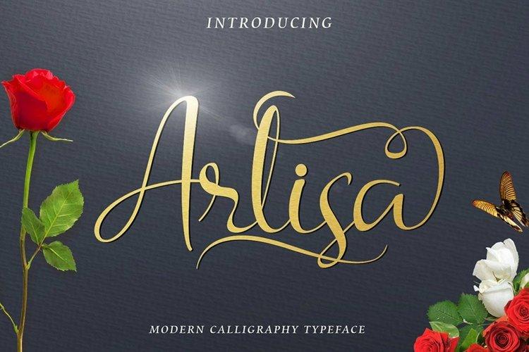 Web Font Arlisa Script Bonus example image 1