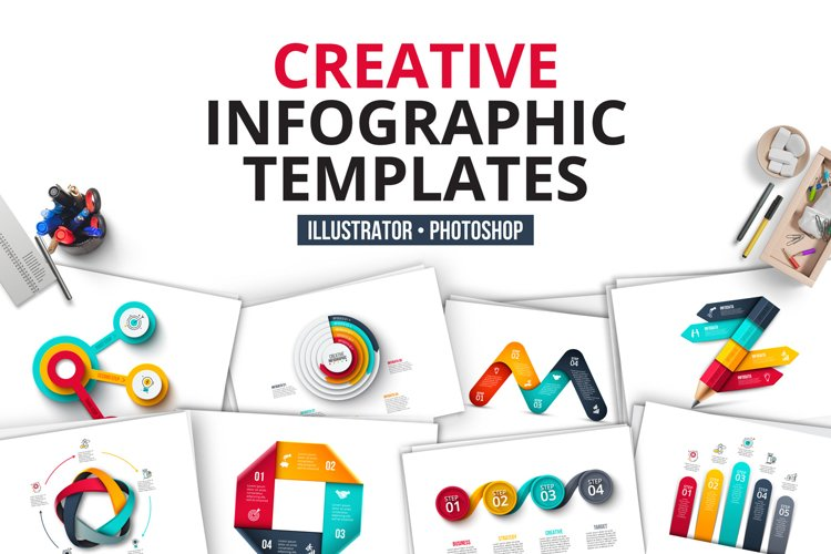 Creative infographics templates example image 1