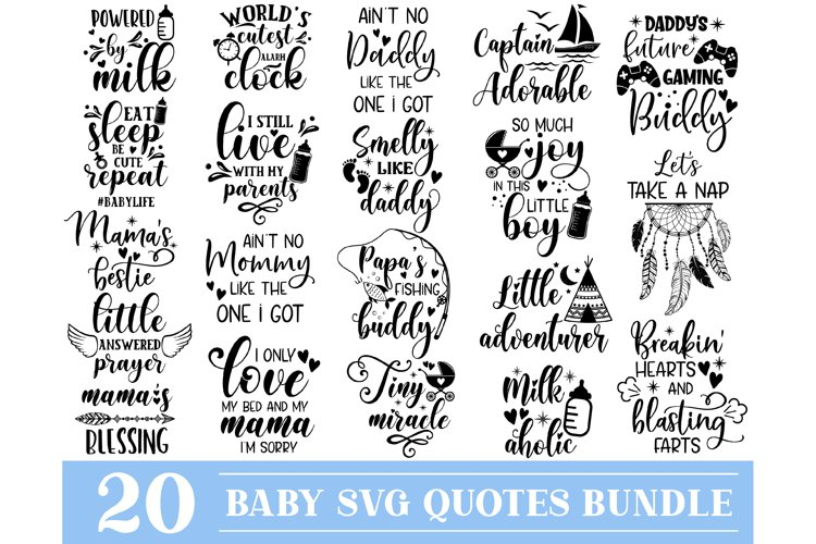 Baby SVG Bundle, New Born Baby SVG, Cute Baby Sayings