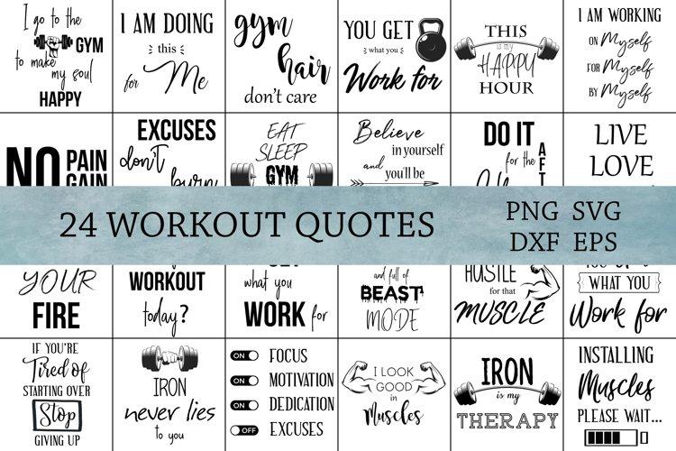 Workout SVG Bundle, Cut Files