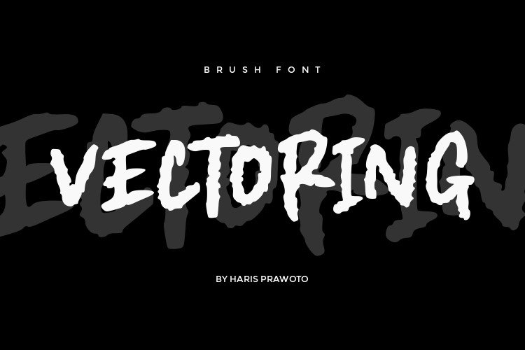 Vectoring Brush Font example image 1