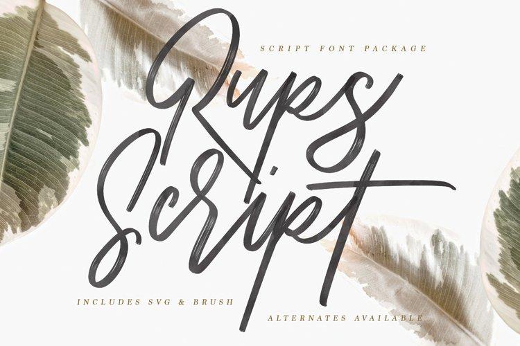 Rups Script - SVG Font example image 1