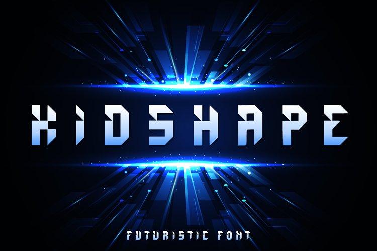 Kidshape | Futuristic Font example image 1