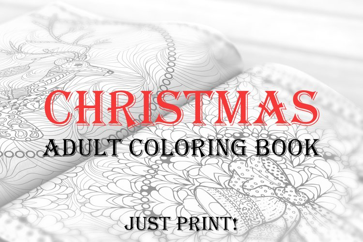 - Christmas Adult Coloring Book. Templates For 2019, 2020 Year (176389) Coloring  Pages Design Bundles