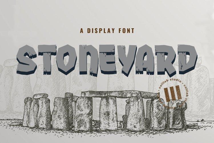 Stoneyard - A Display Font example image 1