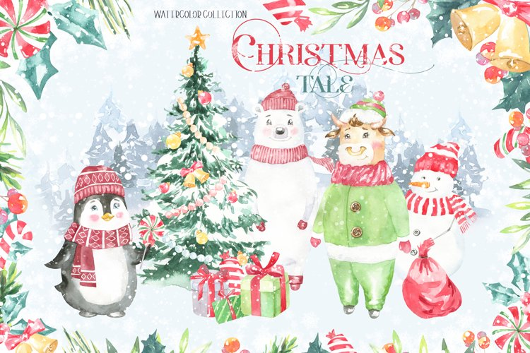 A Christmas Tale Watercolor