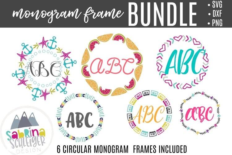Monogram Frame Bundle - SVG Cutting Files