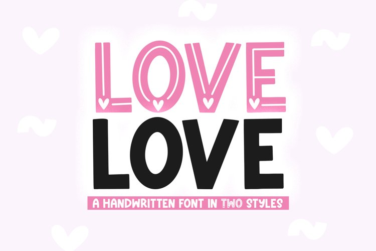 Love Love - Cute Valentine's Day Font example image 1