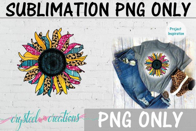 Sublimation Sunflower Bright Leopard Print 300dpi PNG