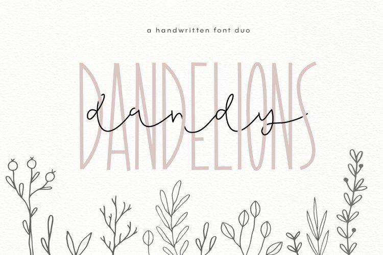 Dandy Dandelions - Handwritten Script & Print Font Duo example image 1