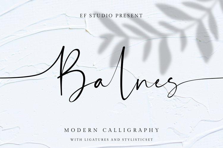 Balnes   Modern Script example image 1