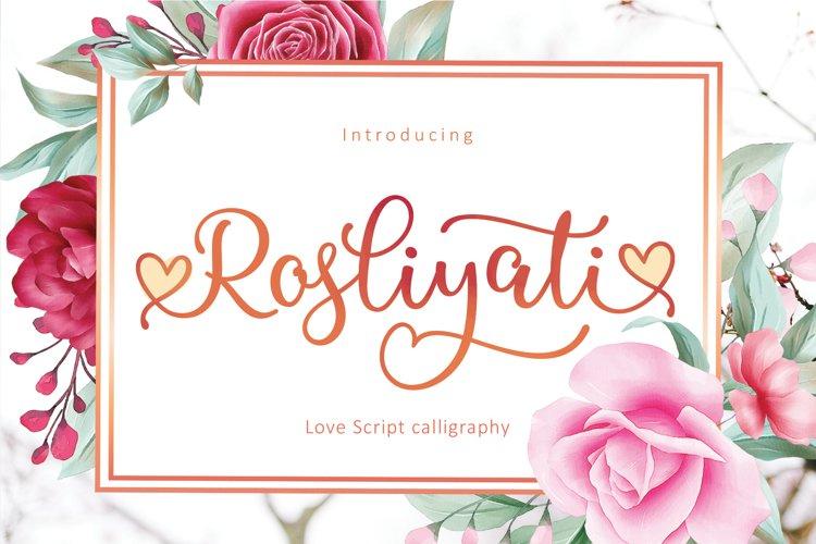 Rosliyati script example image 1