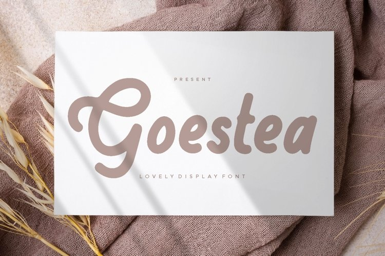 Goestea - Lovely Display Font example image 1