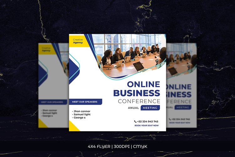 Flyer Online business Conference