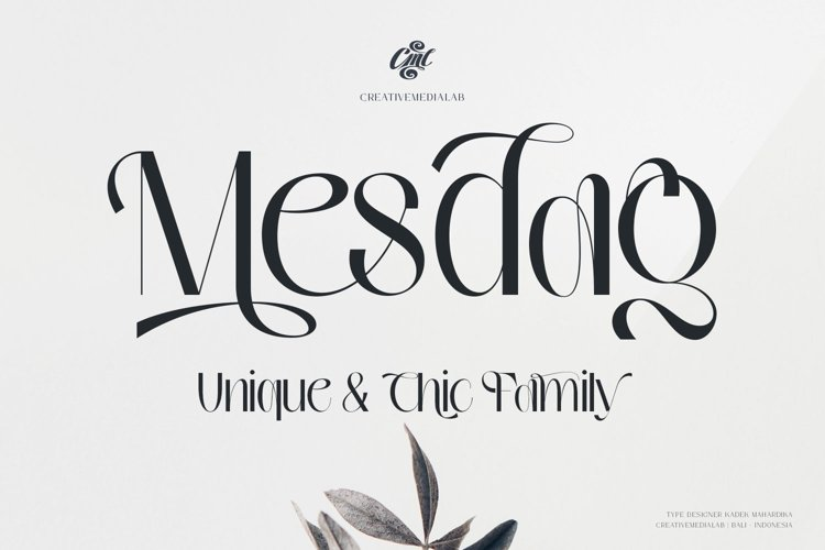 Mesdag Font example image 1