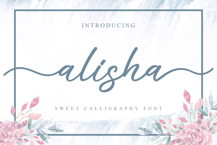 Alisha - Sweet Calligraphy Font example image 1