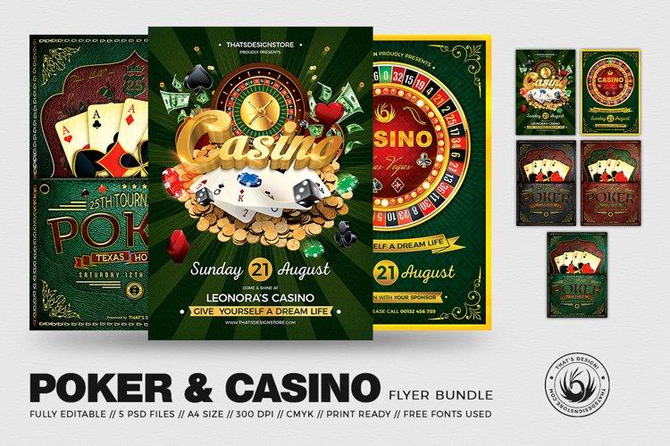 Poker and Casino Flyer Bundle